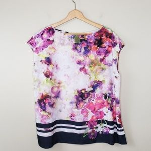 Liz Claiborne Woman | Watercolor Floral Blouse